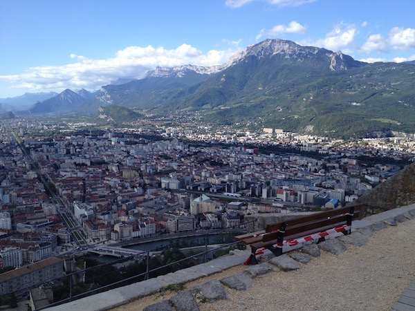 view of Grenoble from Bastille